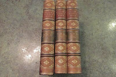 3 Vol 1868 Leather Book Set HALLAM'S STATE OF EUROPE MIDDLE AGES Twelfth Edition