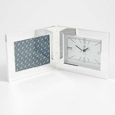 """New Bey Berk Silver Plated Alarm Clock And 3 1/2""""X5"""" Picture Frame"""