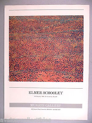 """Elmer Schooley """"Hot Country"""" Painting PRINT AD - 1986"""