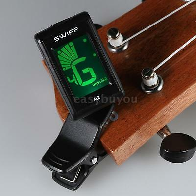 SWIFF A2 Clip-On Tuner Automatic Digital for Acoustic Electric Guitar Bass W1Q3