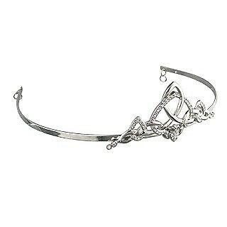 New Solvar Solvar Rhodium Crystal Claddagh Tiara