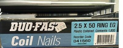 Duo-Fast Coil Nails - Plastic Collated 2.5 x 50 1800 pcs