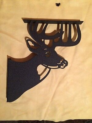 "WHITETAIL DEER SHELF BRACKETS HANDCRAFTED (For 12""shelf)"