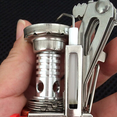Mini Outdoor Camping Hiking Picnic Gas Cooking Food Water Stove Windproof OB