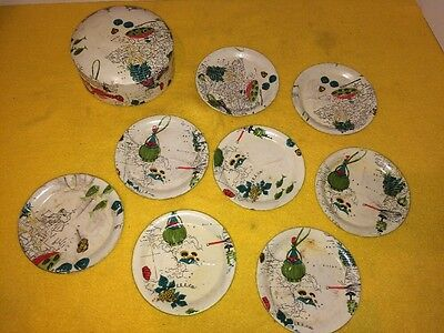 Vintage Coasters Made In Japan Alcohol Proof Papier-Mâché