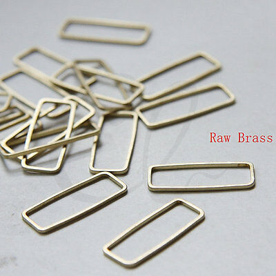 30 Pieces Raw Brass Rectangle Ring - Link 9x24mm (3296C-N-347)