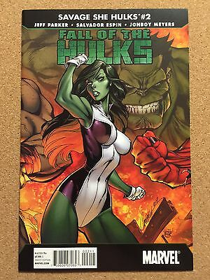 Fall of The Hulks: SAVAGE SHE HULK #2 J. Scott Campbell VARIANT Cover Art 9.4