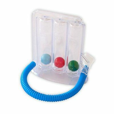 NEW Yoga Deep Breathing Lung Exerciser 3-chamber Incentive Spirometer Health