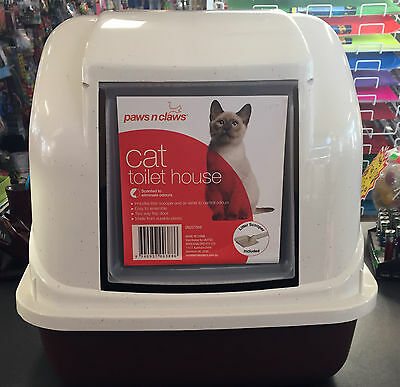 Cat Toilet Litter Tray Box House with Handle & Scoop Portable Carrier New
