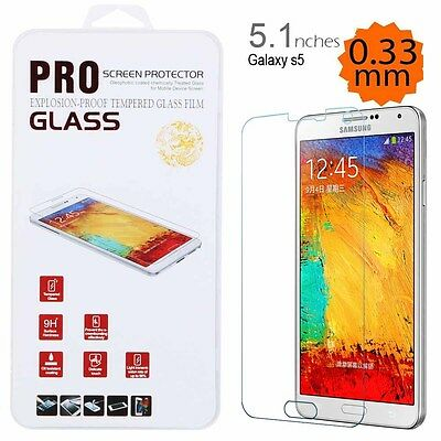 Tempered Glass Screen Protector Film For Samsung Galaxy S5 New 99.9 100% Great