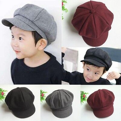 Toddler Baby Kid Infant Boy Girl Beret Cap Dome Octagonal Hat Baseball Casquette