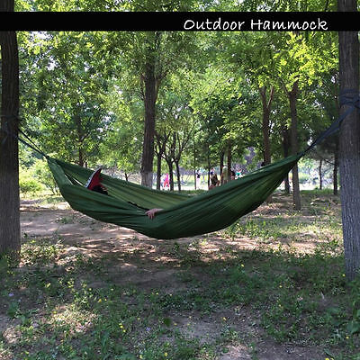 Travel Camping Outdoor Nylon Fabric Hammock Parachute Bed for Double Person New