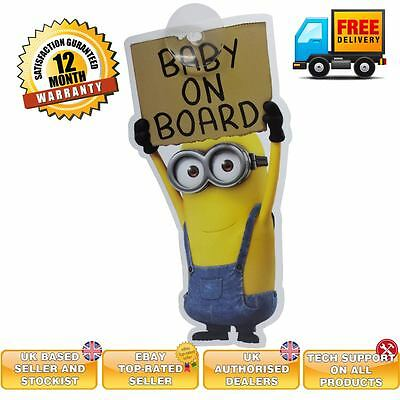 BABY ON BOARD sign baby on board sign Despicable me sign Minions window sign