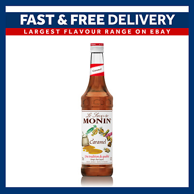 MONIN Coffee Cocktail Syrups - 70cl Glass CARAMEL Syrup - USED BY COSTA COFFEE