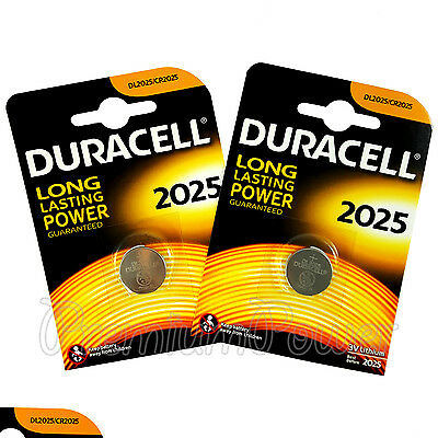 2 x Duracell Lithium Coin Cell battery CR2025 DL2025 3V * Watch Alarm * EXP:2025