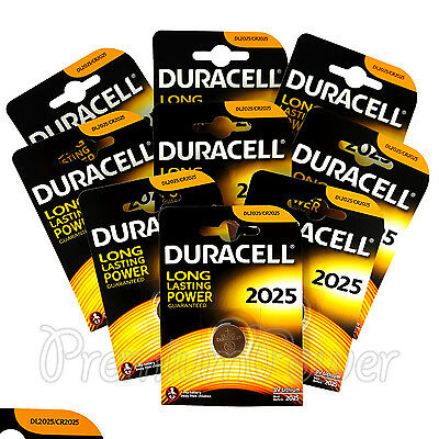 9 x Duracell Lithium Coin Cell battery CR2025 DL2025 3V * Watch Alarm * EXP:2025