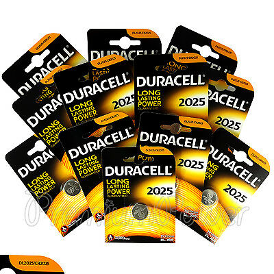 12 x Duracell CR2025 Lithium Coin Cell battery DL2025 3V Watches Alarm EXP:2025