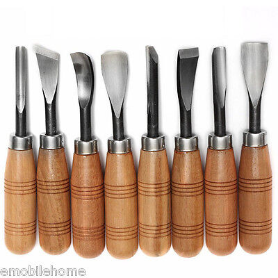 Wood Graver Woodcarving Knife Chisel Carving Blade Hand Tool 8PCS