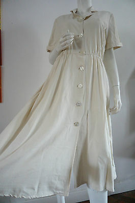 ROBE dress TAILLE 42 retrO vINTAGE VTG beige