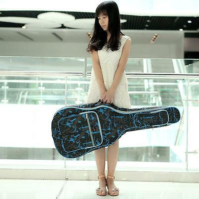 """Padded Straps Gig Bag Guitar Carrying Case for 40"""" Acoustic Classic Guitar S4T2"""