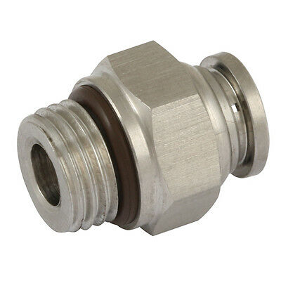 "6mm x 1/8"" BSPP Stainless steel, 316 Push in male stud with seal"