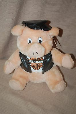 1998 Harley-Davidson Pig Stuffed Plush ~ 10""