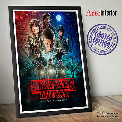 Stranger Things - FINE ART PRINT POSTER Limited Edition NETFLIX ORIGINAL SERIES