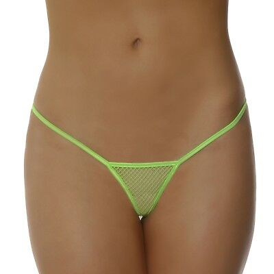 Lovefifi Micro Net G-String Thong Lime One Size