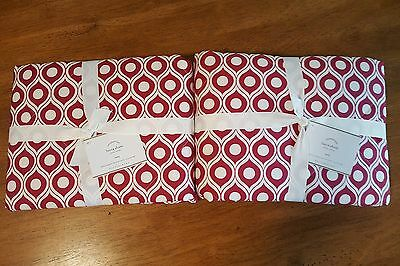 Pottery Barn Lucca Euro Shams ~ Quilted Red ~ Set of 2 ~ NEW ~ MSRP $78