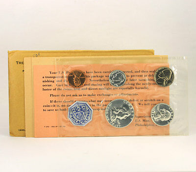 1963P U.S. 5 coin silver proof set all original government packaging with card!!