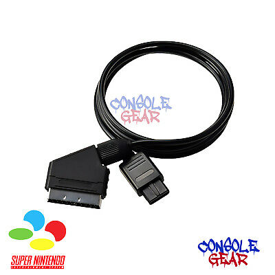 Nintendo Super NES - New - SNES PAL RGB Scart TV Cable Lead