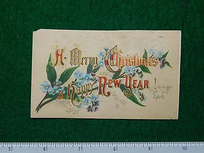 1870s-80s A Merry Christmas & a Happy New Year Victorian Trade Card F26
