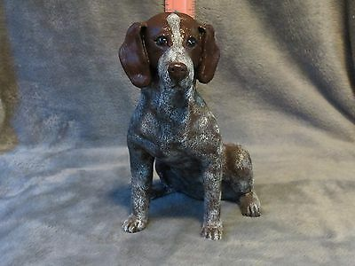 German Shorthaired Pointer Plaster Dog Statue Hand Cast & Painted By T.c. Schoch