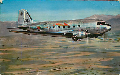 Wings over the West ~WESTERN AIRLINES~ Scarce/Historic MAINLINER Postcard, 1944