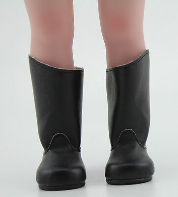 "Black Leather Boots Shoes Made For 18"" American Girl Doll Clothes"
