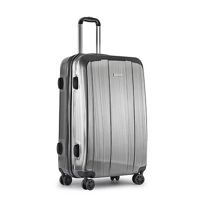 Hard Shell Travel Luggage with TSA Lock Grey Bags