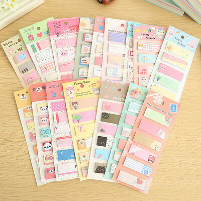 120 Pages Cute Sticker Bookmark Marker Memo Flags Index Tab Sticky Notes