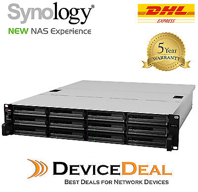 Synology RackStation RS3617xs 12 Bay Diskless Rackmount NAS Xeon E3-1230 v2 CPU