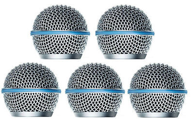 5 PCS Ball Head Mesh Microphone Grille Fits Shure SM58,Beta58/Beta58A