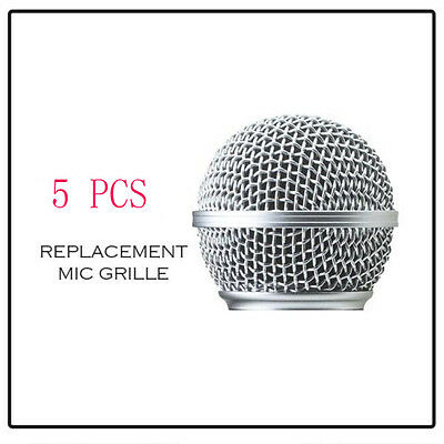 5PCS Replacement Ball Metal Screen Microphone Grille for Shure SM58 Wire Mic