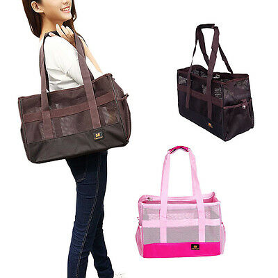 Lightweight Mesh Pets Cat Dog Puppy Carrier Tote Travel Breathable Fold Handbags
