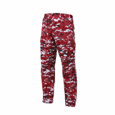 Red Camouflage Military Style Men/'s Belt MILB3301