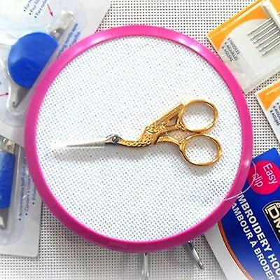 Vintage Stork Shaped Embroidery Sewing Craft Shear Cross Stitch Scissor Golden