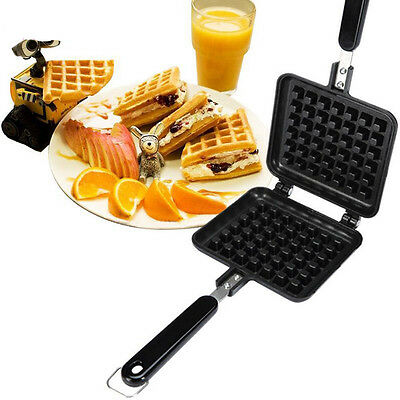 New Breakfast Belgian Waffle Maker Coated Steel with Stay-cool Handle Non-stick