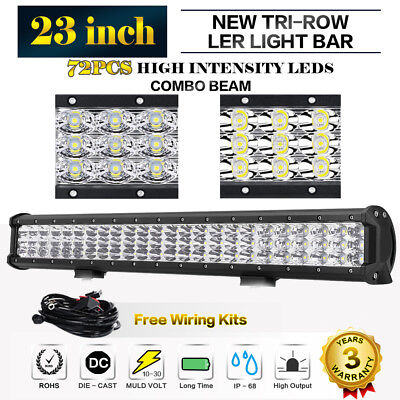 """23""""inch 720W Philips Led Work Light Bar Stop Flood Offroad Driving Truck 4WD 20"""""""