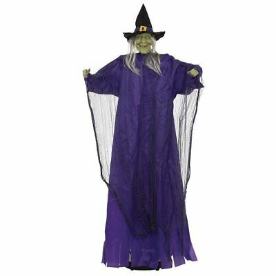 Walking Witch. Sound Activated Motion, Spooky, Halloween Party Prop #au
