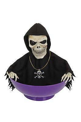 Skeleton Candy Bowl Light + Sound, Halloween Party Prop/Room Decoration #CA