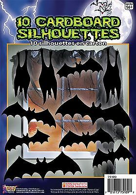 Silhouette Shadow Bats 10pc, Halloween Party Accessory Prop/Room Decoration #CA