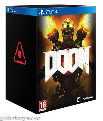 Doom Collector's Edition Ps4 Statue Game New Sealed