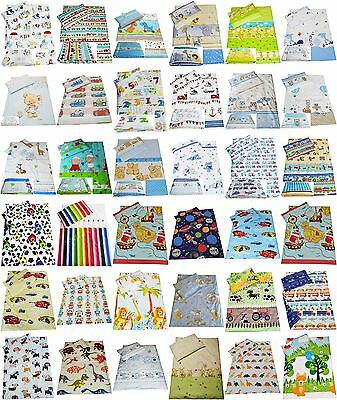 2/ 3 pc ANTI-ALLERGY BOYS Bedding 90x120 100x135 bumper cover to fit cot 60x120